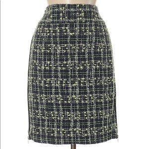 Molly Tweed Zipper Skirt